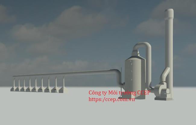 hệ thống xử lý khí thải lò nấu đồng