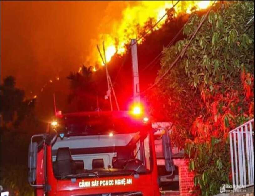 Ô nhiễm môi trường không khí do cháy rừng
