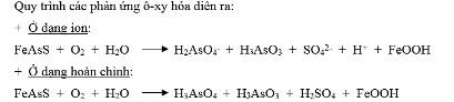 Quy trình phản ứng ô xy hóa asen