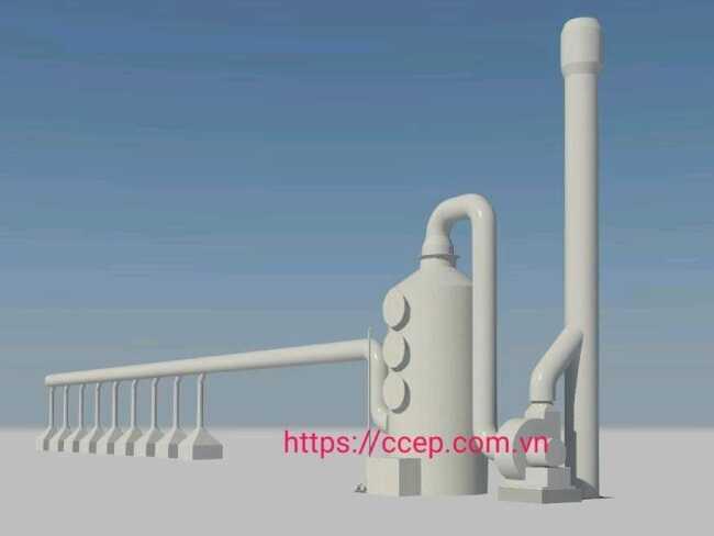 tháp xử lý khí thải scrubber