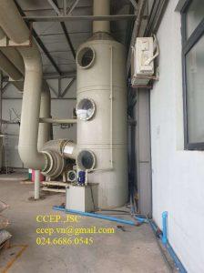 xử lý khí thải hơi axit