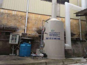 xử lý khí thải hơi dung môi