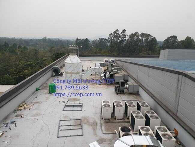 xử lý khí thải hơi thiếc và hơi flux