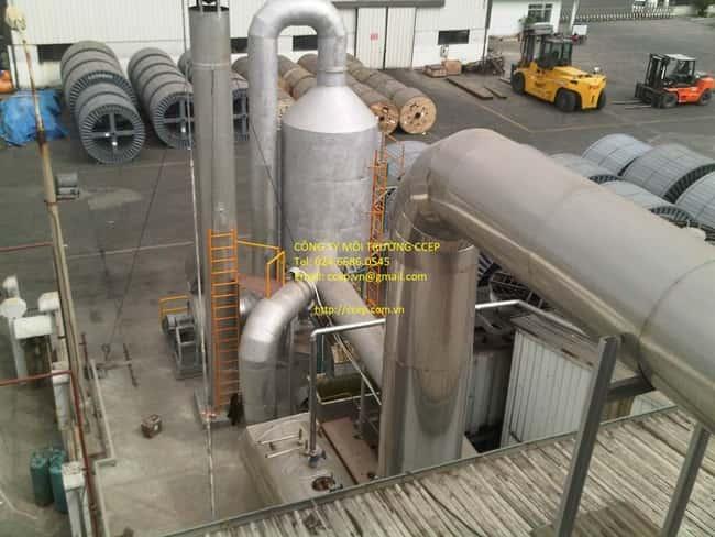 xử lý khí thải lò nấu đồng