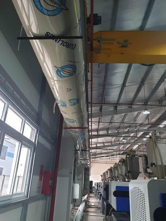 thu gom xử lý khí thải máy ép nhựa