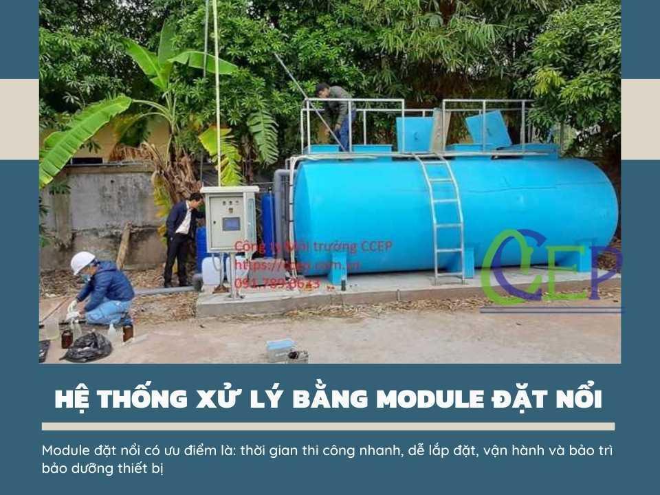 Xử lý nước thải với module đặt nổi
