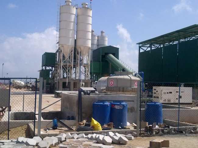 Xử lý nước thải trạm trộn bê tông