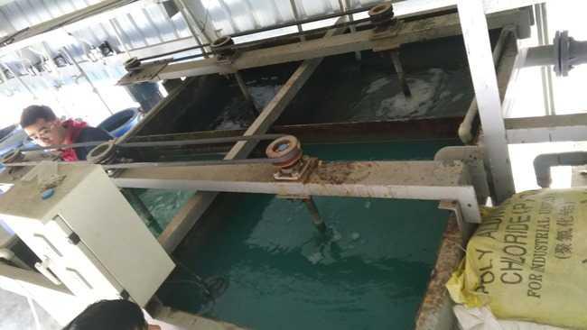 Bể phản ứng hệ thống xử lý nước thải xi mạ